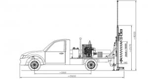 Rys. 2 Wiertnica samochodowa typ H16S wpołożeniu roboczym (http://wamet.pl/index.php?m=bipr&id=102&id_cat=44&products_id=76)
