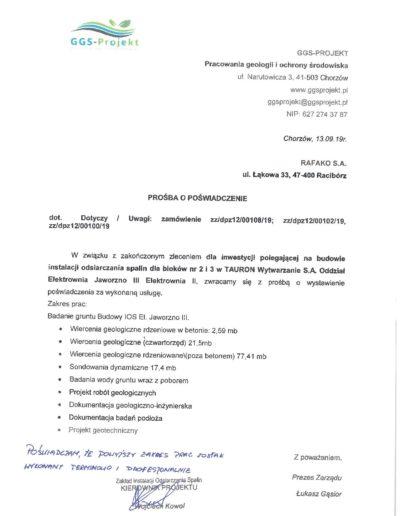 RAFAKO S.A. podpis